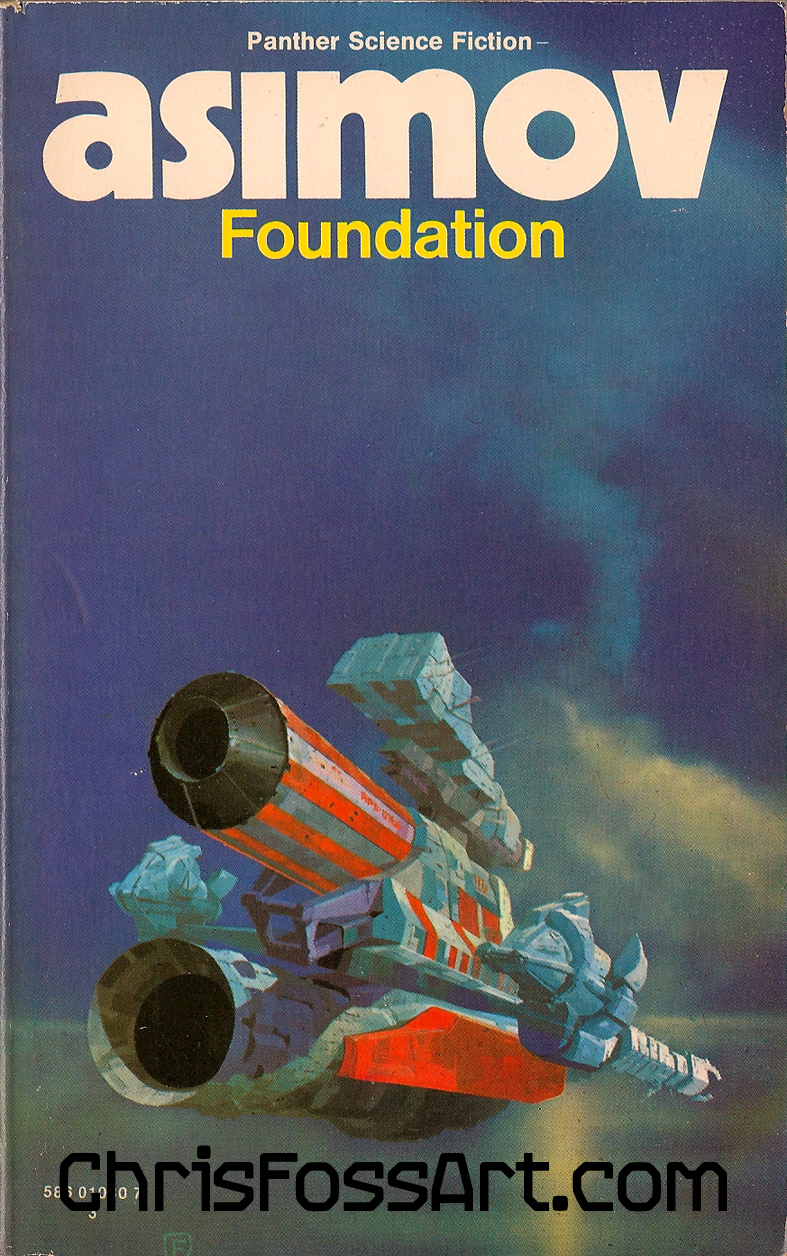 Fantasy Book Cover Posters ~ Asimov chris foss artist